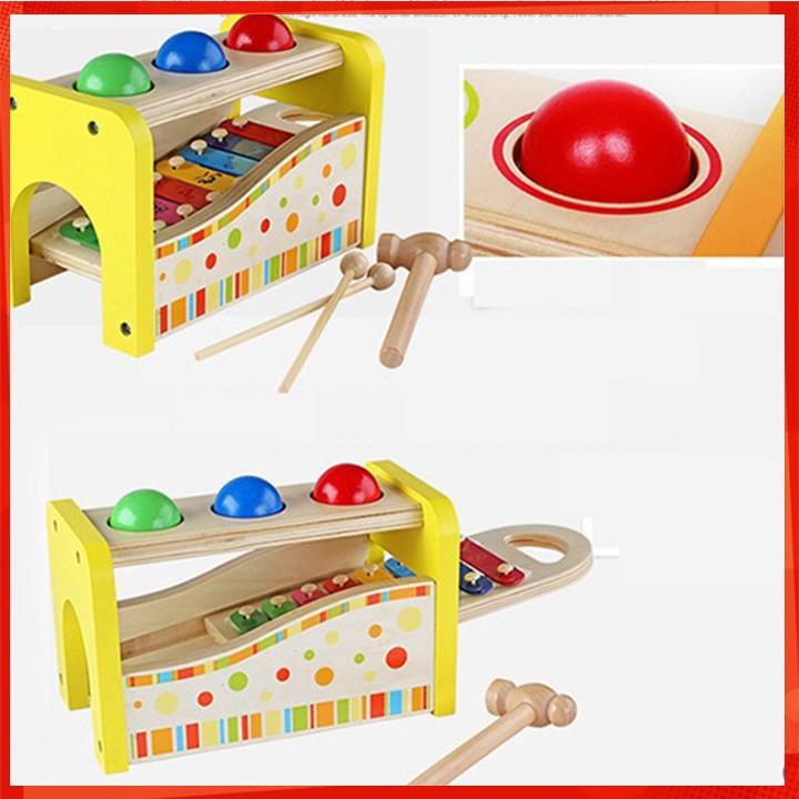 [NEW] Đồ chơi đập bóng kết hợp đàn gỗ - Đồ chơi gỗ [CỰC ĐẸP]