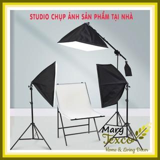 Đèn Chụp Ảnh Sản Phẩm, Bộ Đèn Studio, quay phim, Livestream chuyên nghiệp, chân đèn cao 2m kèm Softbox 50x70cm