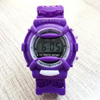 DH Đồng hồ điện tử trẻ em giới tính TIME CLUE dây cao su cực đẹp 8 YC39