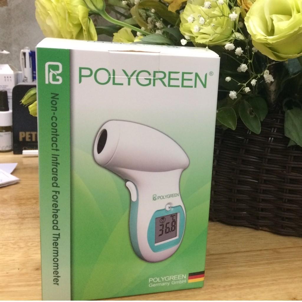 Nhiệt kế hồng ngoại đo trán Polygreen KI-8280 BH 02năm + Tặng túi đựng máy