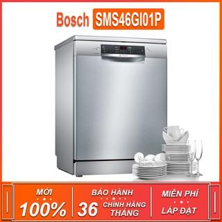 Máy rửa bát độc lập Bosch SMS46GI01P – Seri 4 , dung tích rửa 12 bộ chén bát ( Xuất sứ Ba Lan – Bảo hành 36 tháng ) TGB