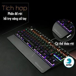 Bàn phím cơ game thủ Detek K28 có đèn LED - thiết kế mới tặng đế kê tay thumbnail