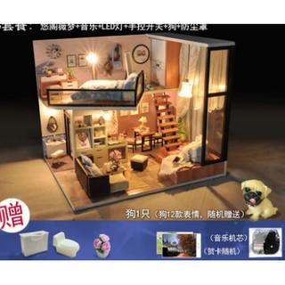 (order) Mô hình nhà gỗ DIY phòng ngủ ấm áp