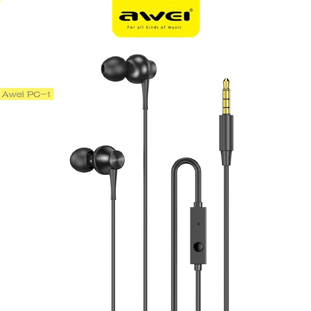 Tai Nghe Nhét Tai AWEI PC-1 Âm Thanh Stereo Sống Động Với Giắc Cắm 3.5mm - Tai  nghe có dây nhét tai