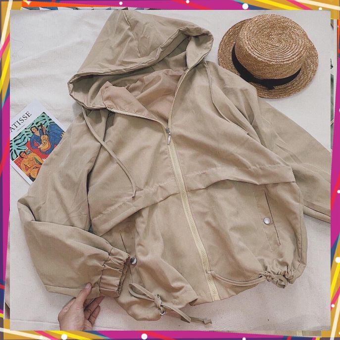 [Mã WASEPRN hoàn 20% xu đơn 99k] áo khoác nữ dù 2 lớp chống nắng gió tiện lợi 0017