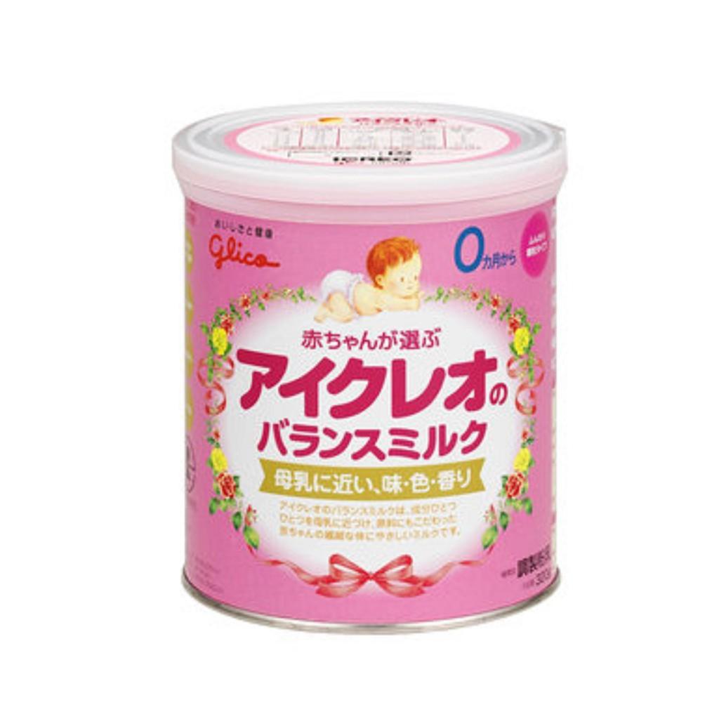 Sữa Glico Số 0 lon 320g (màu hồng)