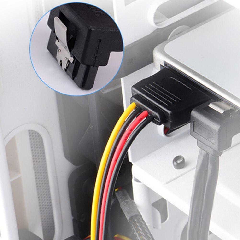Cáp chia nguồn SATA 1 thành 2 - Dây nguồn SATA 1 ra 2 cong bẻ góc trái 20Cm - Cáp nguồn SATA chữ Y cho HDD/SSD/DVD-R Hàn