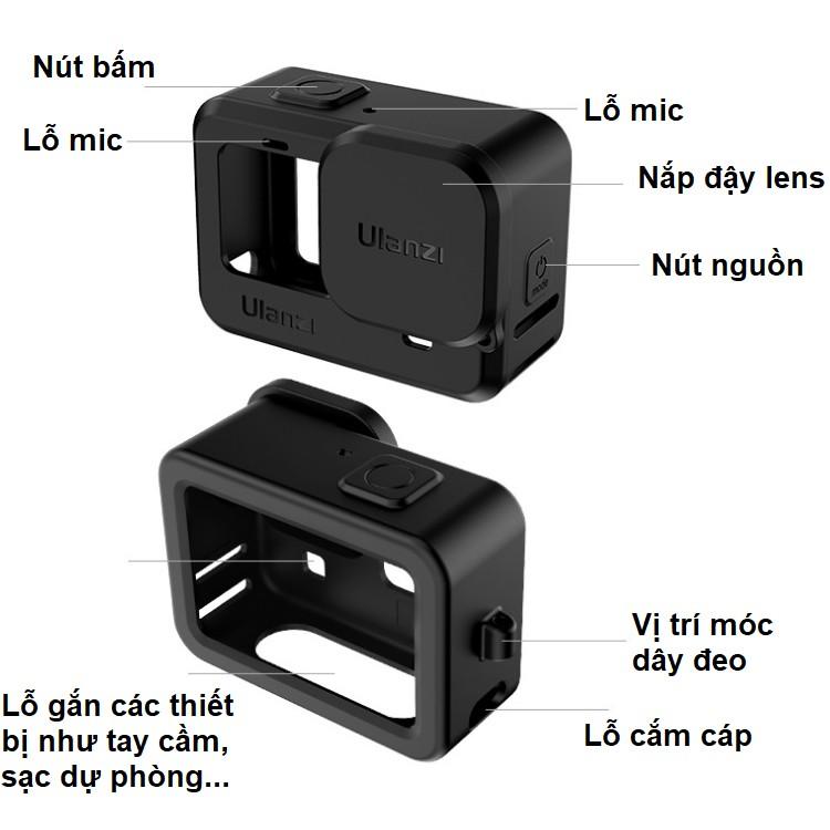 Case gopro 9 bằng silicon bảo vệ máy quay hành động gopro hero
