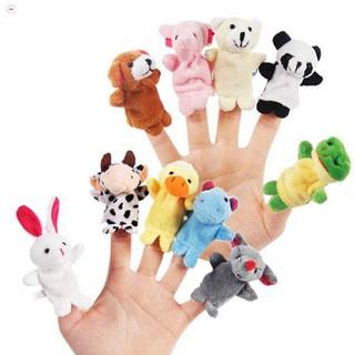 Bộ thú rối 5 con xỏ ngón tay bằng vải cao cấp cho bé nhận biết màu sắc con vật NHẬP MÃ GIẢM GIÁ