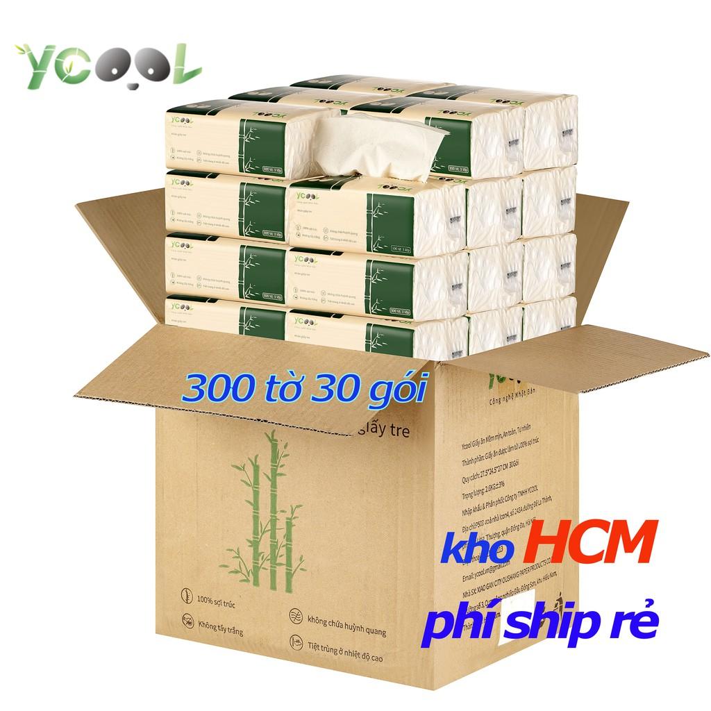 Giấy ăn gấu trúc Ycool -giấy vệ sinh giấy gói1 thùng 30 gói 2.63KG