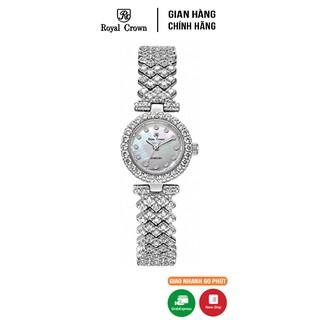 Đồng Hồ Nữ Chính Hãng Royal Crown 6305L-J vỏ trắng thumbnail