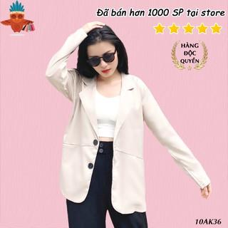 Áo blazer khoác vest công sở kiểu túi xéo THOCA HOUSE đen, trắng, kem, hồng, cà phê freesize cho cả đi làm, đi chơi thumbnail