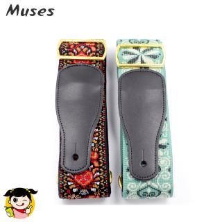 National Style Embroidery Jacquard Guitar Strap Electric Acoustic Ukulele Folk Jazz Guitar Bass