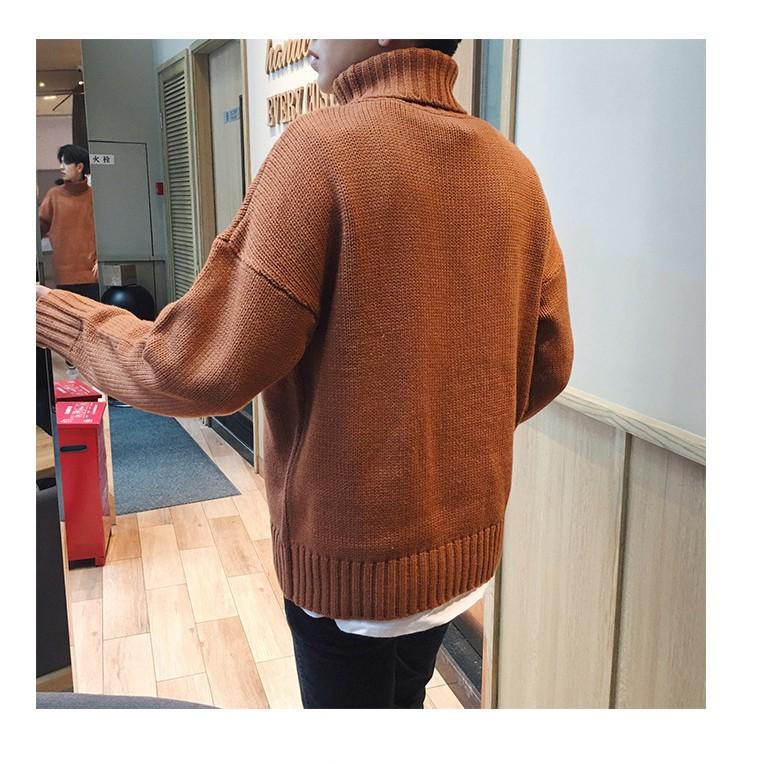 áo len cao cổ dang suông ulzzang Hàn Quốc giá sale tết