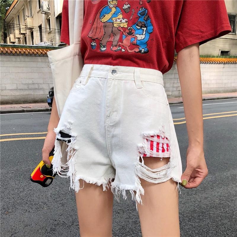 Quần short nữ jeans denim lưng cao thời trang Hàn - 15154732 , 2345602130 , 322_2345602130 , 182648 , Quan-short-nu-jeans-denim-lung-cao-thoi-trang-Han-322_2345602130 , shopee.vn , Quần short nữ jeans denim lưng cao thời trang Hàn