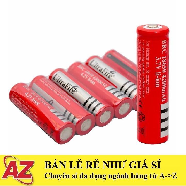 Pin Cell Pin 18650 Ultrafire Đỏ, Pin 3V7 Dùng Cho Pin Sạc, Đèn Sạc