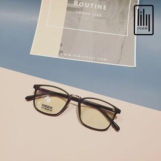 Hình ảnh Gọng kính cận vuông chất liệu nhựa dẻo phụ kiện thời trang nữ Lilyeyewear 210 nhiều màu-2