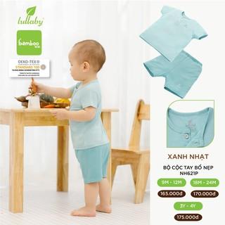 Đồ bộ cộc tay bổ nẹp Lullaby cho bé trai NH621P Xanh [Thời Trang trẻ em cao cấp – chính hãng Lullaby Store]
