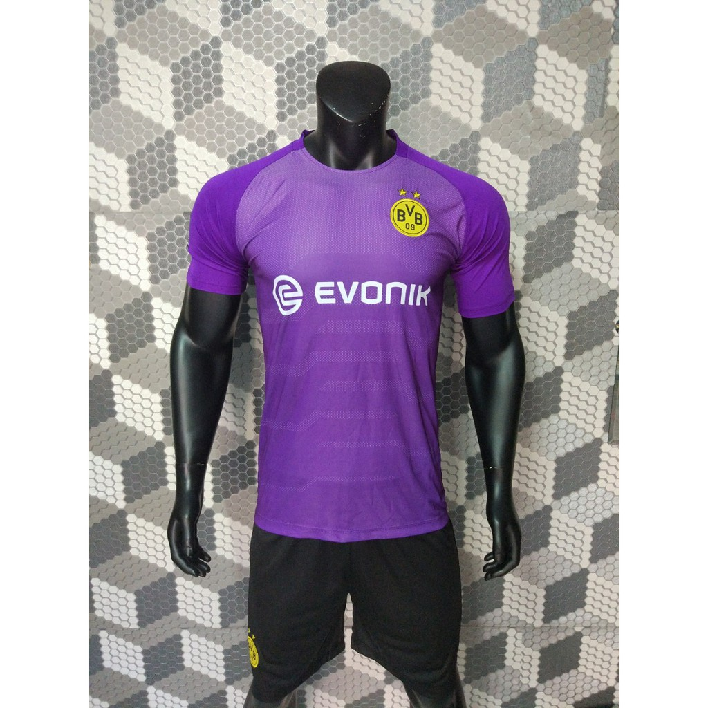 Quần áo đá bóng Dormund tím 2018-2019