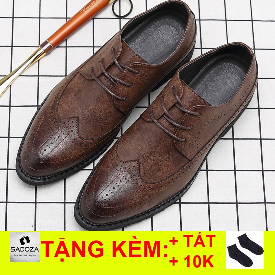 Giày Nam Cao Cấp - FREESHIP - Giày Nam Công Sở Chất Chơi Vintage GD54
