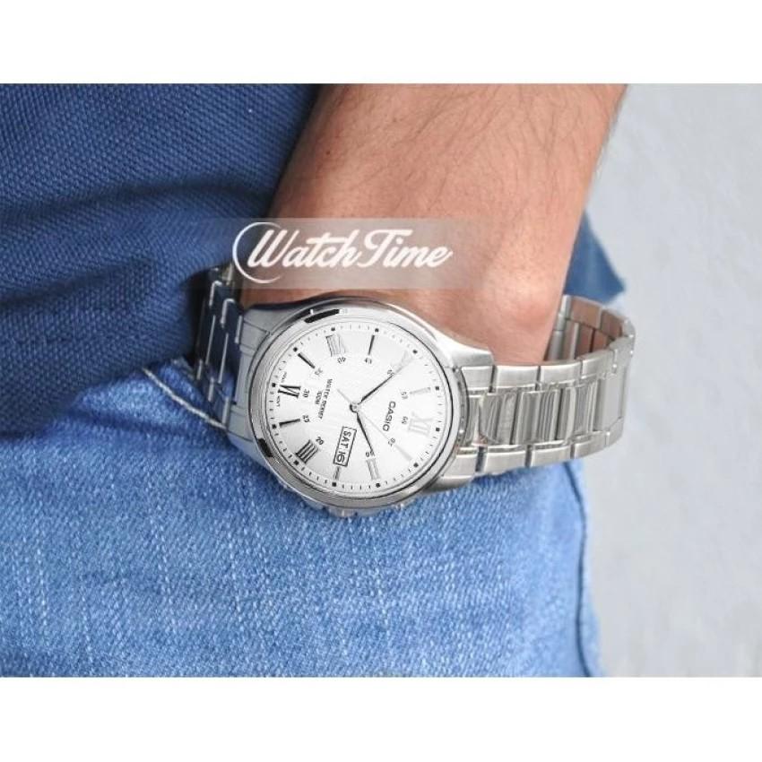 Đồng hồ nam dây kim loại Casio chính hãng Anh Khuê MTP-1384D-7AVDF
