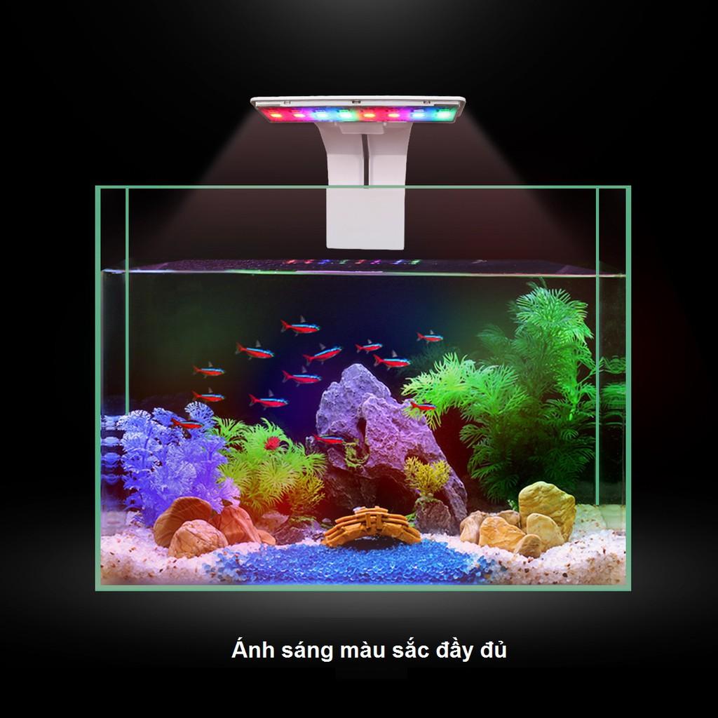 Đèn Led thủy sinh 3 chế độ màu WRGB chống sương mù kẹp thành bể