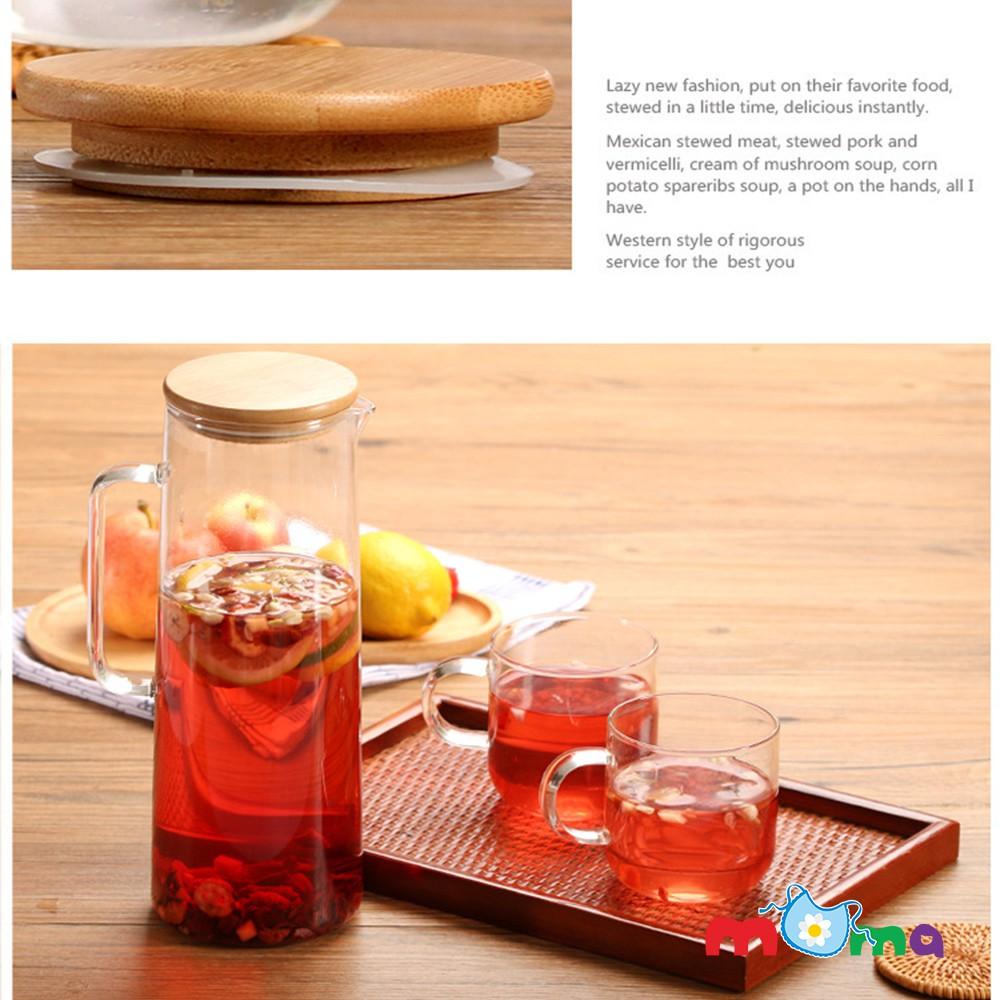 Bình, chai, lọ thủy tinh có nắp gỗ silicon đẹp Water Bottle đựng trà, nước, nước ép , detox, dung tích 1500ml_HK027 - 13924470 , 1256238267 , 322_1256238267 , 219000 , Binh-chai-lo-thuy-tinh-co-nap-go-silicon-dep-Water-Bottle-dung-tra-nuoc-nuoc-ep-detox-dung-tich-1500ml_HK027-322_1256238267 , shopee.vn , Bình, chai, lọ thủy tinh có nắp gỗ silicon đẹp Water Bottle đự