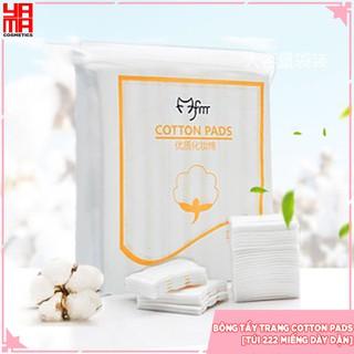 Bông Tẩy trang Cotton Pads GIÁ SỈ 3 lớp cotton [Túi 222 miếng dày dặn]