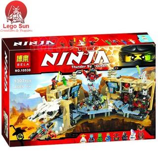 Lego ninjago BELA 10530 Hỗn chiến hang võ sĩ ninjago 1307 khối (Lego 79348 – Lepin 06039)