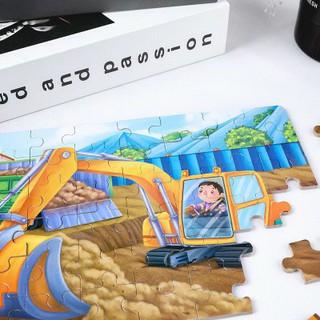 Ghép Hình Puzzle Tổng Hợp 4 Tranh 12-24-36-48 Mảnh Hộp Gỗ Đẹp – Chủ Đề Phương Tiện Giao Thông