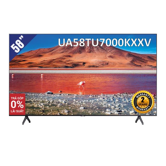 Smart Tivi 4K UHD Samsung 58 inch UA58TU7000KXXV (Model 2020)