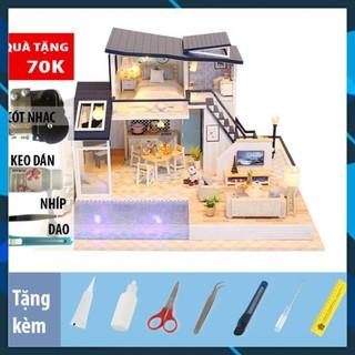 Mô hình nhà búp bê gỗ DIY Nhà búp bê lắp ghép Mermaid tribe 13849 Toy World thumbnail