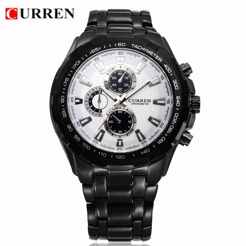 Đồng hồ nam Curren Mens quartz màu đen