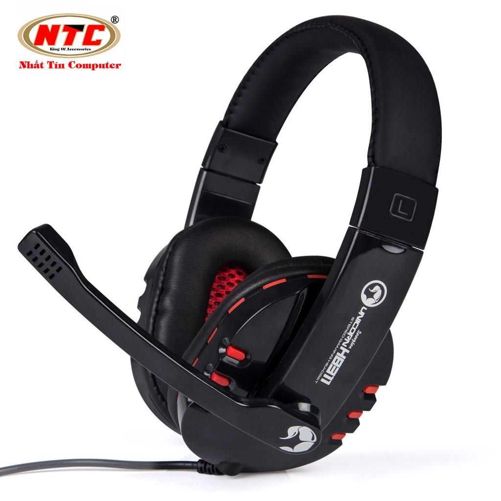 Tai nghe chụp tai cao cấp có dây Marvo H8311 (Đen đỏ)