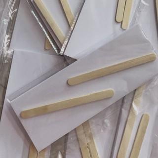 Giấy wax lông chuyên dụng 50 tờ + 2 que gạt, giấy wax lông tại nhà dùng kèm sáp wax lông - GWL 3