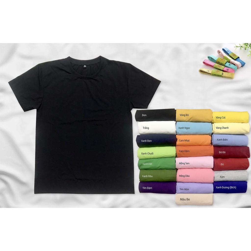 Áo Phông Áo Thun Trơn Nam Nữ Nhiều Màu Giá Sỉ