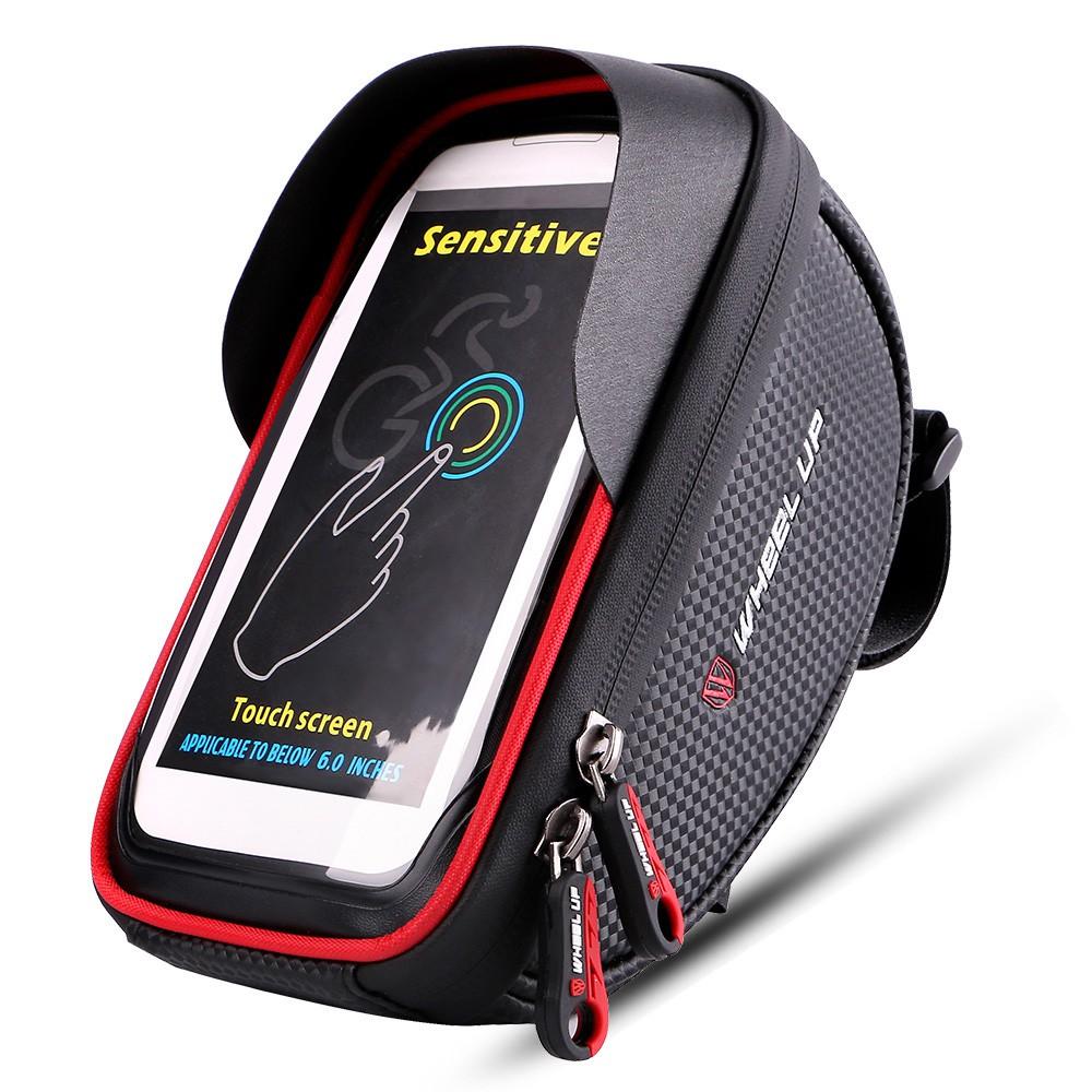 (Ready Stock)  Bike Front Bag Bicycle Cycling Phone Holder Bike Touchscreen Phone Case MTB Bike