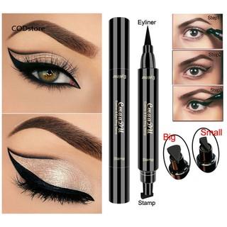 Bút kẻ mắt CmaaDu 2 đầu màu đen nhanh khô chống nước thumbnail