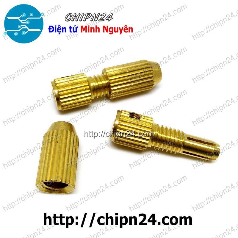 [1 CÁI] Đầu Kẹp Mũi Khoan MK2015 (Tặng 1 Cây M3 Mở Lục Giác) (Trục 2mm Kẹp mũi từ 1.0-1.5mm)