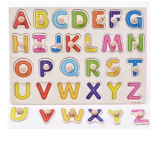 [Mã TOYSEP giảm 10% tối đa 15K đơn bất kỳ] [ HOT DEAL ] Đồ chơi bảng ghép gỗ bảng chữ cái có núm – 20×30 cm