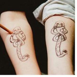 Micro Tattoo Light Movie Movie Harry Potter Harry Potter Stone Nebu Buddha Demon Dark Mark Seal Sticker Sticker (từng cá