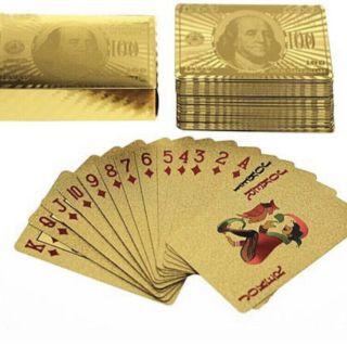 Bộ bài Euro mạ vàng