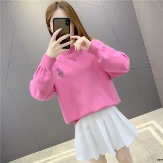 Áo Sweater Tay Dài Cổ Tròn Thời Trang Mùa Xuân Cho Nữ