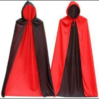 Áo choàng thần chết 2 lớp đen đỏ