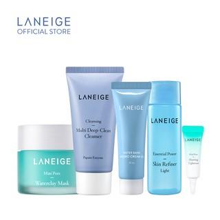 Bộ sản phẩm mini làm sạch, se khít lỗ chân lông và dưỡng ẩm cho da nhờn Laneige