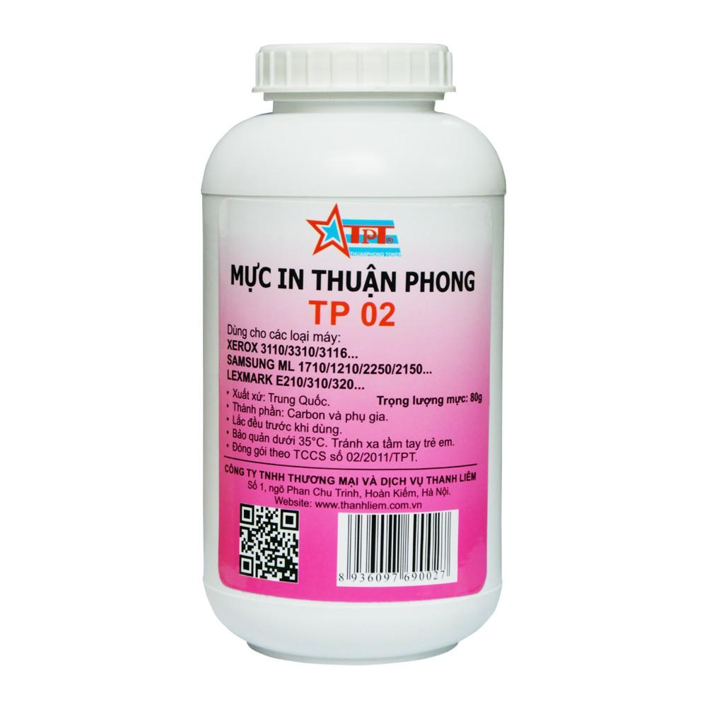 Mực đổ Thuận Phong TP02 dùng cho máy in Samsung ML-1610/ 1620/ 2010/ 2020/ 2160/ 2165/ 1660/ 1666/ 1670/ 1860/ SCX-4321
