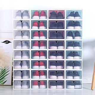 Combo 5 Hộp đựng giày năp thông minh nắp nhựa cứng màu trắng