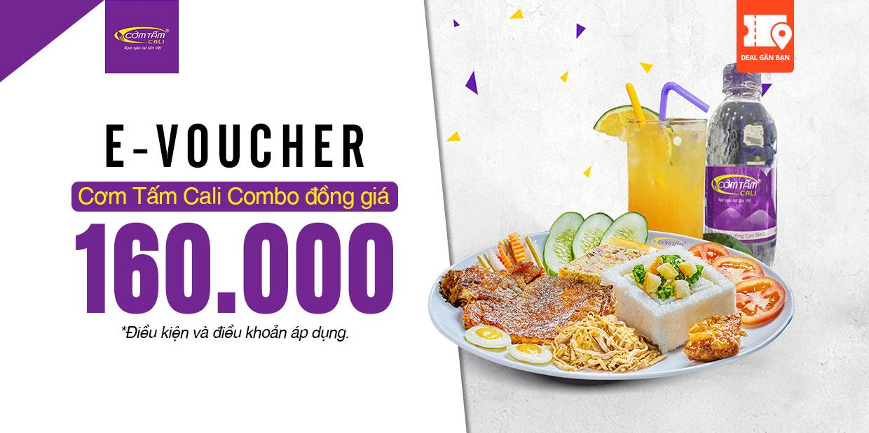 E-Voucher Cơm Tấm Cali Combo Đồng Giá 160.000