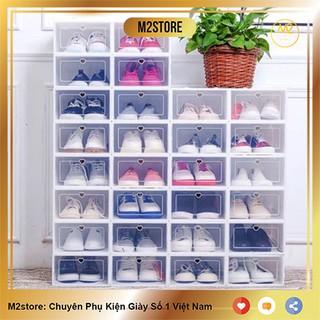 Hộp Đựng Giày Dép Nắp Nhựa Cứng Trong Suốt, Size lớn Chịu Lực 4kg HDG01