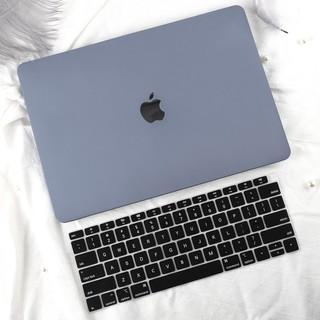 Combo Case ,Ốp Macbook Xám + Phủ phím Đen ( Tặng Nút Chống Bụi + chống gãy dây sạc ) thumbnail